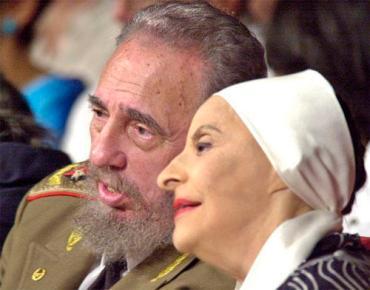 Alicia Alonso y Fidel Castro
