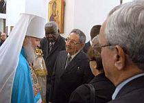 El Presidente de los Consejos de Estado y de Ministros departió con Su Eminencia Kiril en la Iglesia Ortodoxa Rusa.