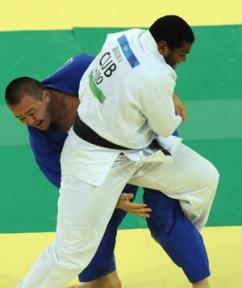 Oscar Braison, judoca cubano medalla de bronce en Beiing 2008.