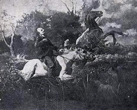 Óleo de Esteban Valderrama que representa la muerte de José Martí en Dos Ríos.