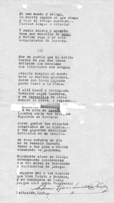 Poesía inédita de Antonio Hernández Pérez