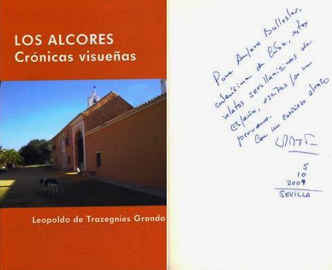 Portada y dedicatoria de Los Alcores