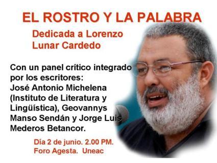 Lorenzo Lunar Cardedo en El Rostro y la Palabra