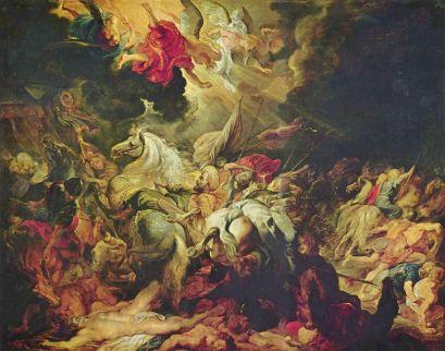 La caída de Senaquerib, obra temprana de Rubens