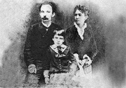 José Martí, Carmen Zayas Bazán y su hijo, José Francisco