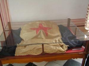 Bandera diseñada por Narciso López para Trinidad en 1848. Actualmente se encuentra en el Museo de Historia de Trinidad.